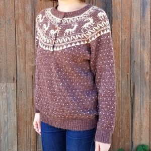 Vintage Monrose   deer Fair Isle sweater